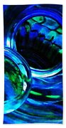 Glass Abstract 226 Beach Towel by Sarah Loft