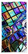 Glass Abstract 696 Beach Towel