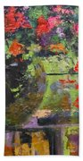 Glass And Flowers Beach Towel