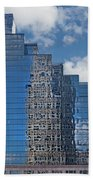 Glass Building Reflections Beach Towel