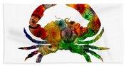 Glass Crab Beach Towel