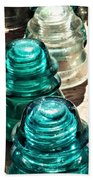 Glass Insulators Beach Towel