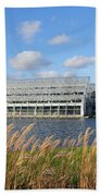 Glasshouse At Rhs Wisley Surrey Uk Beach Towel