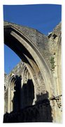 Glastonbur Abbey 2 Beach Towel