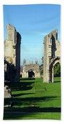 Glastonbury Abbey 1 Beach Towel