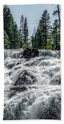 Glen Alpine Falls 7 Beach Towel