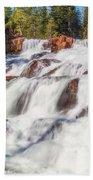 Glen Alpine Falls In Early Morning Light Beach Towel