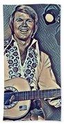 Glen Campbell Abstract Beach Towel