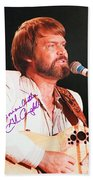 Glen Campbell Autographed Poster Beach Towel