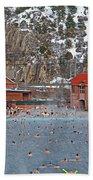 Glenwood Springs Hot Springs In Winter Beach Towel
