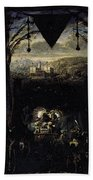 Gleyre Charles Gabriel The Queen Of Sheba Beach Towel