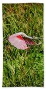 Gliding Spoonbill In Bayou Beach Towel