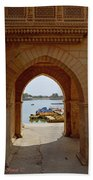 Glimpse Of Gadisar Lake Beach Towel