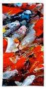 Glittering Of Koi Beach Towel