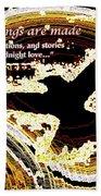 Glowing Bird Of Midnight Love Beach Towel