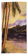 Glowing Kualoa Diptych 1 Of 2 Beach Towel