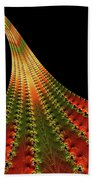 Glowing Leaf Of Autumn Abstract Beach Towel