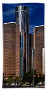 Gm And Marriot Monster In Detroit Beach Towel