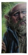 Gnome Wizard Beach Towel