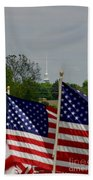 God And Country Beach Towel