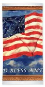 God Bless America Beach Towel