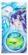 God, Goddess, Earth Ripple Effect Beach Towel