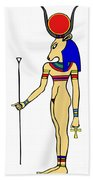 God Of Ancient Egypt - Hathor Beach Towel