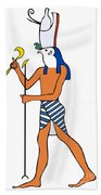 God Of Ancient Egypt - Horus Beach Towel by Michal Boubin