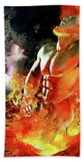 God Of Fire Beach Towel