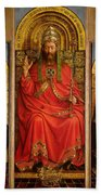God The Father Beach Towel by Hubert and Jan Van Eyck