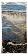 Godafoss Waterfall Beach Towel