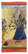 Goddess Bhadrakali Worshipped By The Gods. From A Tantric Devi Series Beach Towel