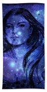 Goddess In Blue Beach Towel