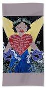 Goddess Of The Arts Beach Towel