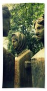 Goddess Statues Beach Towel