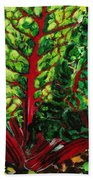 God's Kitchen Series No 7 Swiss Chard Beach Towel