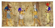 Gods Of Ancient Egypt Beach Towel