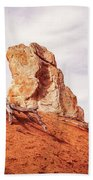 Going Down The Slope At Kodachrome Basin State Park. Beach Towel