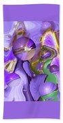 Orbs Of Light - Abstract Iris Marbles Beach Towel