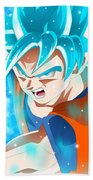 Goku In Dragon Ball Super  Beach Towel