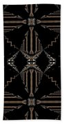 Gold And Black With Silver Design Abstract Beach Towel