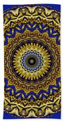 Gold And Sapphires  Beach Towel