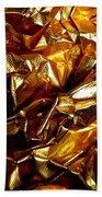 Gold Art Beach Towel