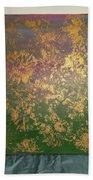 Gold Flowers Beach Towel