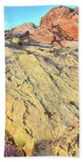 Gold Lava Flow In Valley Of Fire Beach Towel
