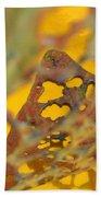 Gold Leaf 3 Beach Towel