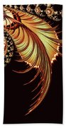 Gold Leaf Abstract Beach Towel