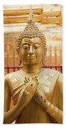 Gold Leaf Buddha Beach Towel
