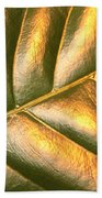 Gold Leaf Canvas Beach Towel