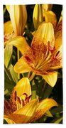 Gold Lilly Beach Towel